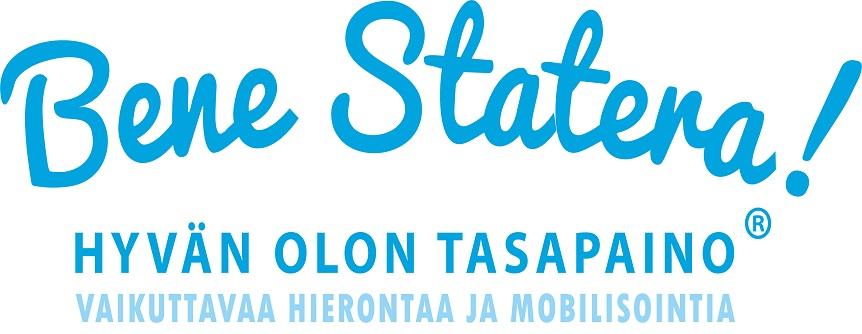Bene Statera! Hyvän olon tasapaino, vaikuttavaa hierontaa ja mobilisointia -logo.